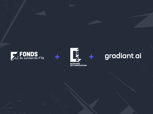 Gradiant AI is supported by the Quartier de l'innovation and the Fonds FTQ